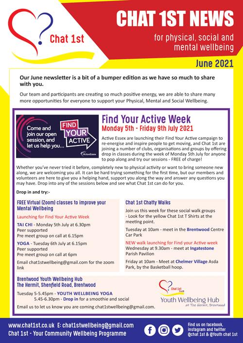 Chat 1st Newsletter - June 2021