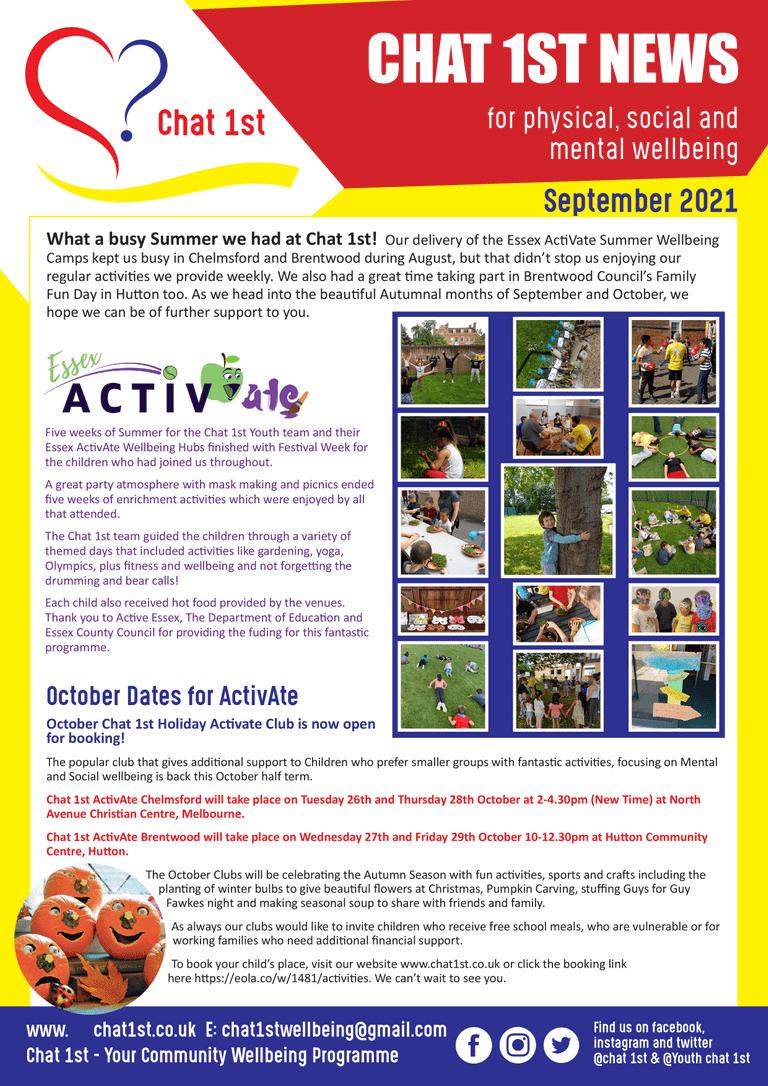 Chat 1st Newsletter - September