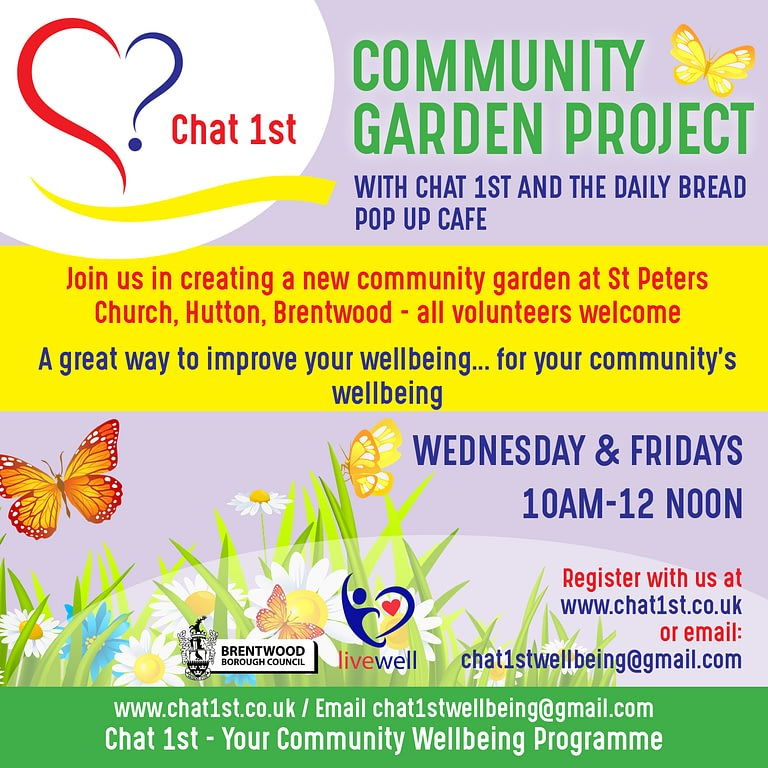 Join us at the Chat 1st Community Garden
